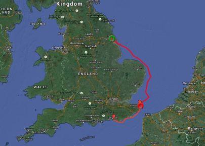 Hull to Brighton