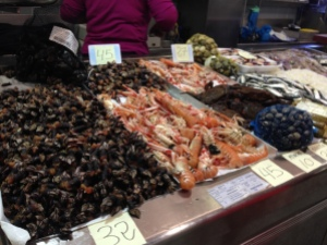 The Fish Market (percebes on the left there)