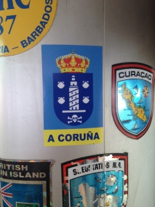 We put our first mast sticker sitting proudly alongside the previous owners' ones!